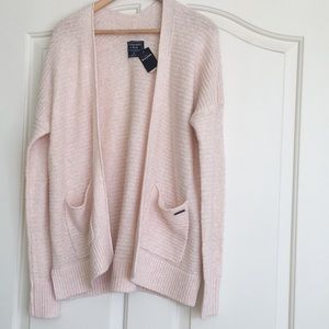 NWT Abercrombie Fitch Shawl Open Front Cardigan XS